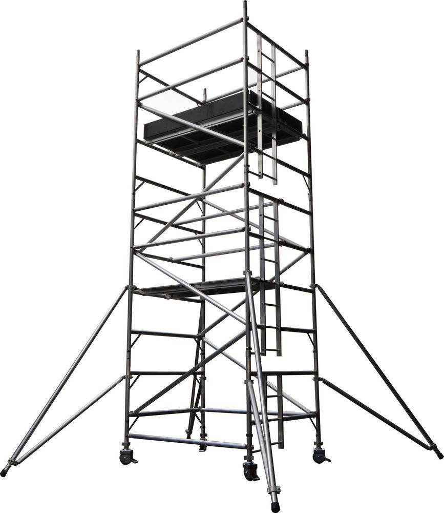 867x1000 Leader Pro 500 Aluminium Industrial Scaffold Towers Bsi Kit Marked