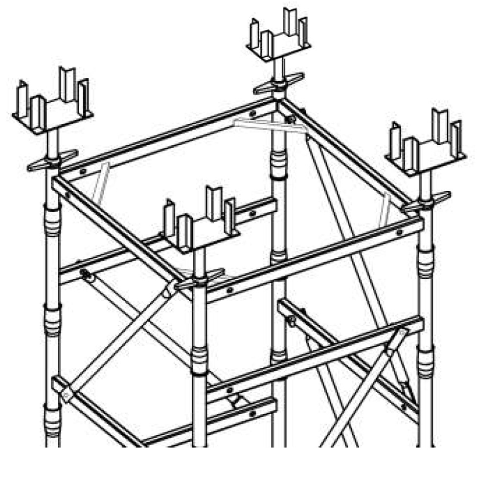 1022x1008 Tower Type (Sleeved) Scaffolding System Meza Commodities