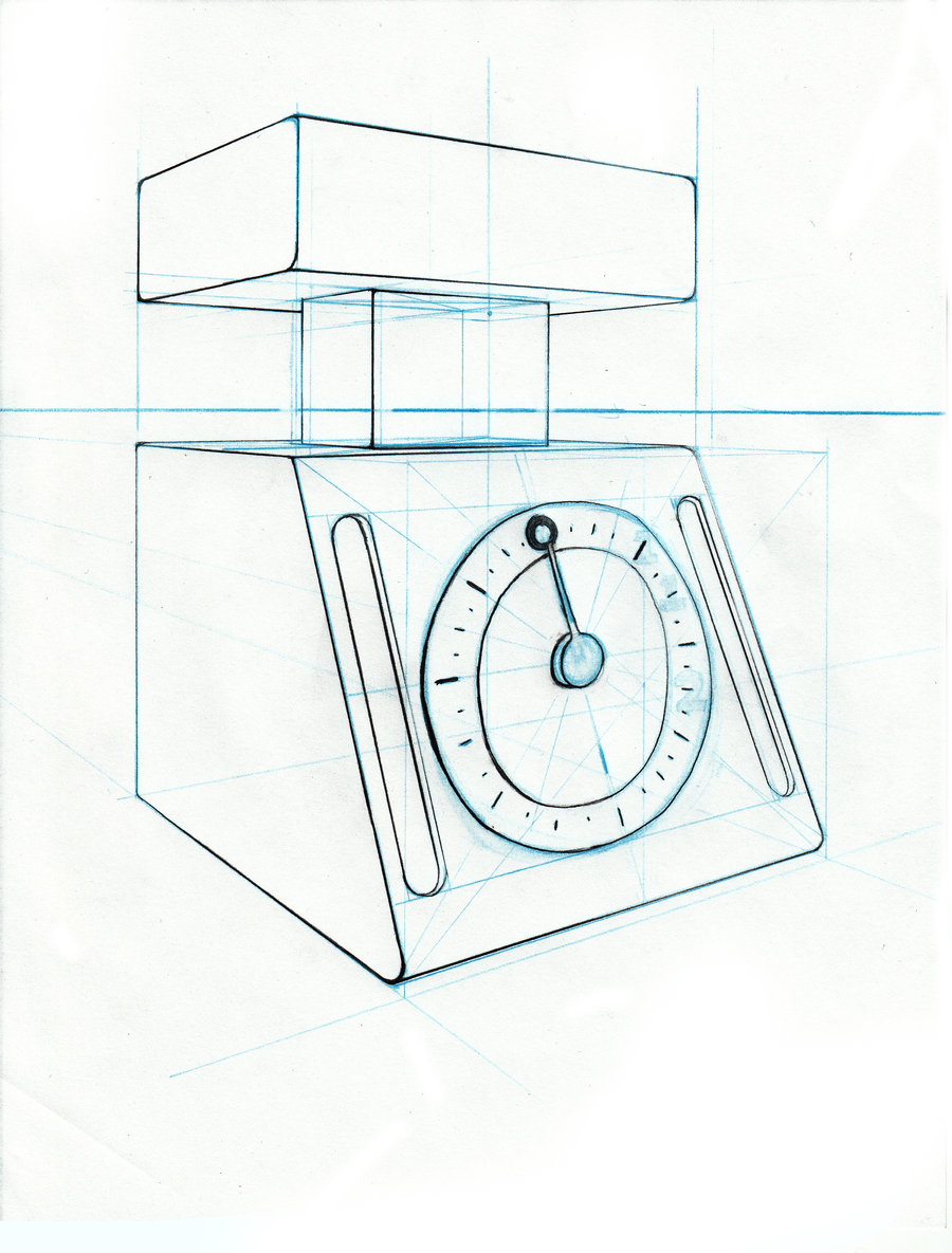 900x1185 Object Drawing Kitchen Scale By Bluemaroon