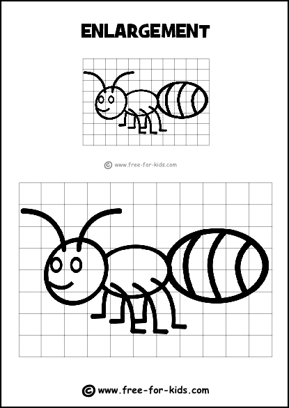 415x586 Drawing Grid Enlargement Worksheets For Kids