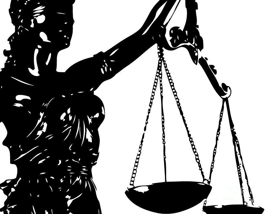 900x720 Lady Justice Poster Black White Digital Art By Flo Karp