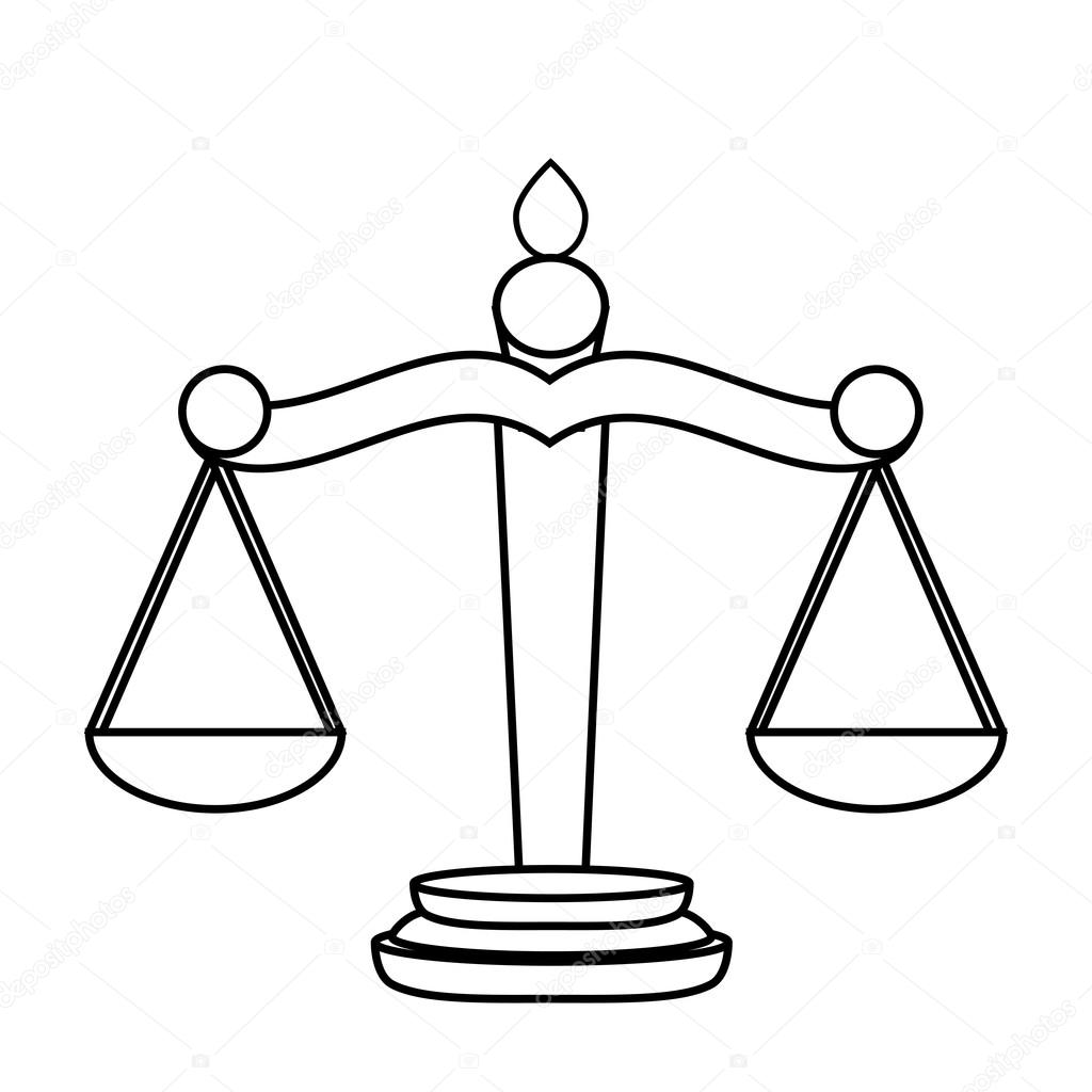 1024x1024 Scales Of Justice Stock Vector Pavlentii
