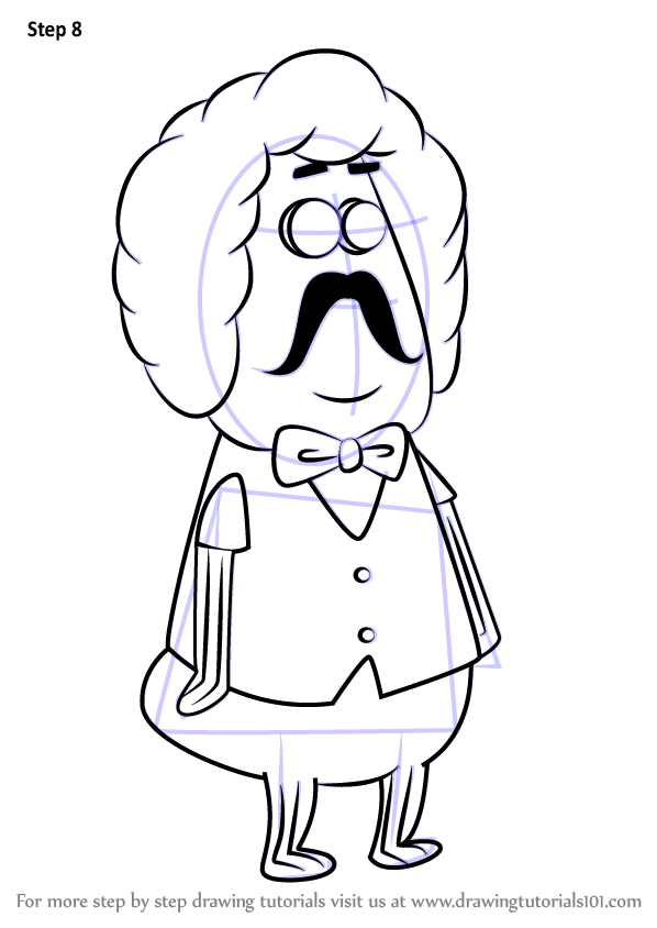 598x844 Learn How To Draw Gene Scallop From Spongebob Squarepants