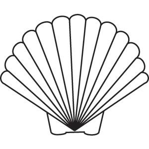 300x300 Scallop Shell Vector