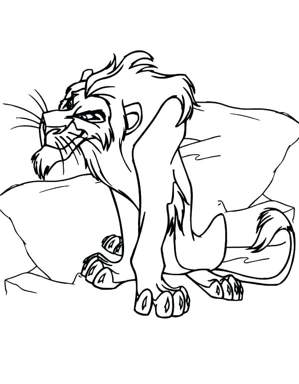 600x770 Scar Coloring Page Lion King Scar Coloring Pages Genesisar.co