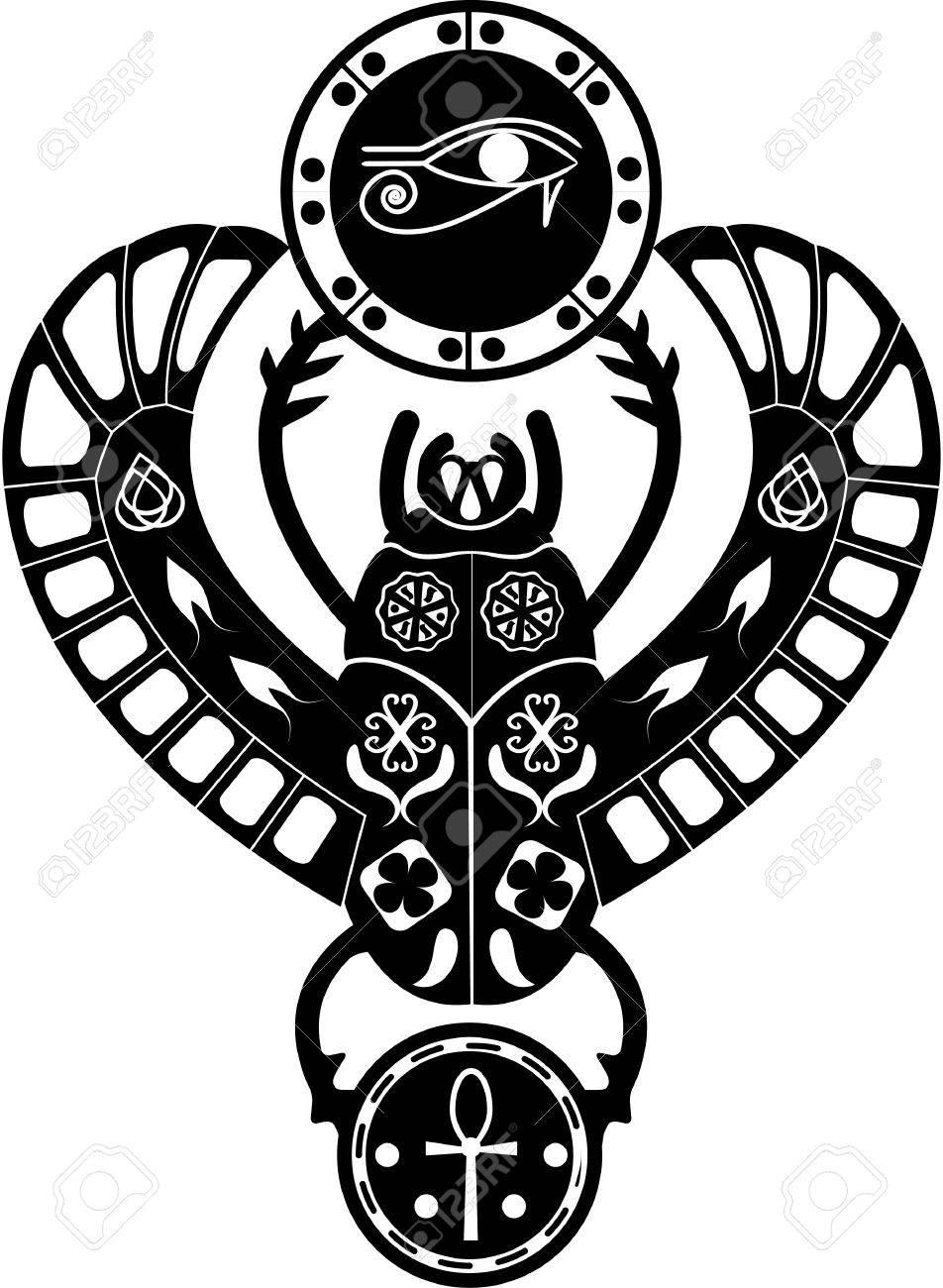 952x1300 Black And White Silueit Ancient Egyptian Symbol, Amulet
