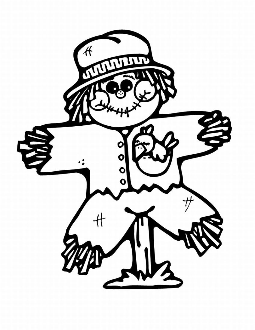 848x1097 Free Printable Scarecrow Coloring Pages For Kids