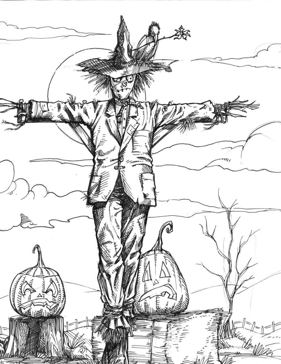 900x1165 Halloween Scarecrow 2012 By Scottepentzer