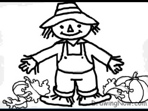 480x360 How To Draw A Scarecrow