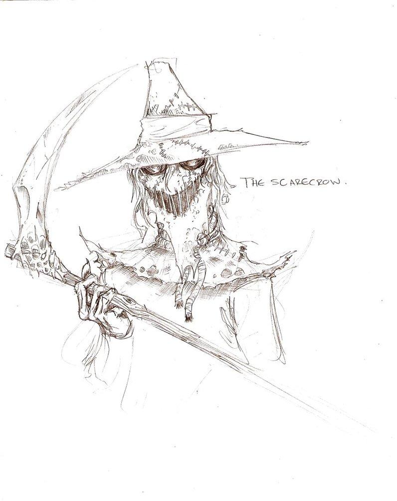 796x1003 Quicksketch The Scarecrow By Parisalleyne