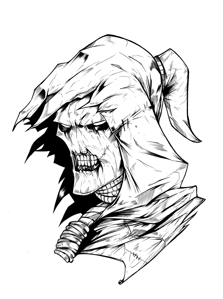 768x1028 Scarecrow Batman Drawing Easy Batman Joker Drawings
