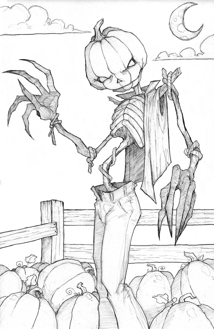 720x1110 Scarecrow Sketch By Relkavin