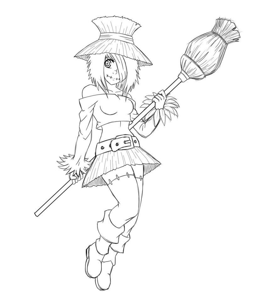 831x962 Scarecrow Girl By Tony Arts