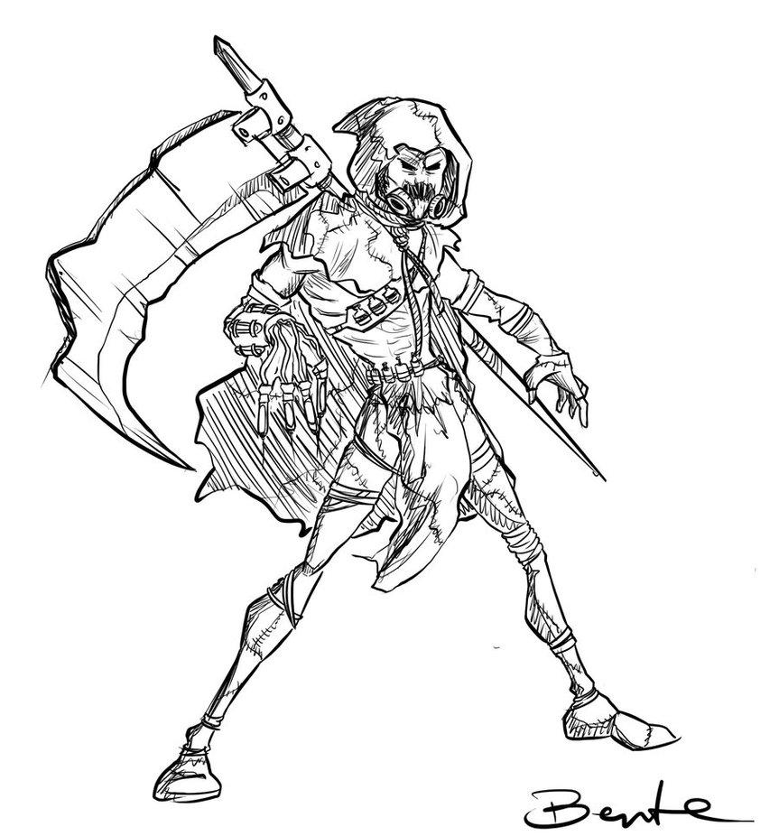 863x926 Scarecrow Sketch By Bentelicious