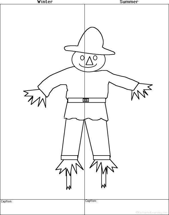 590x752 Draw A Scarecrow, Winter And Summer