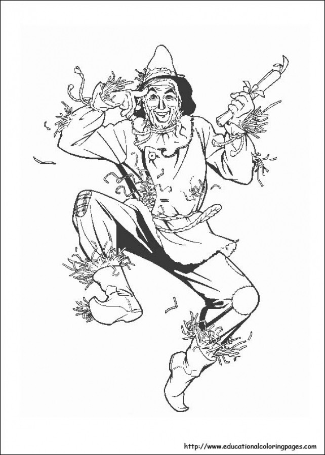 642x900 Energy Wizard Of Oz Pictures To Color Scarecrow In Free Printable