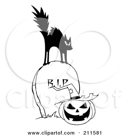 450x470 Royalty Free (Rf) Clipart Illustration Of A Scared Black And White