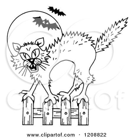 450x470 Royalty Free (Rf) Scaredy Cat Clipart, Illustrations, Vector