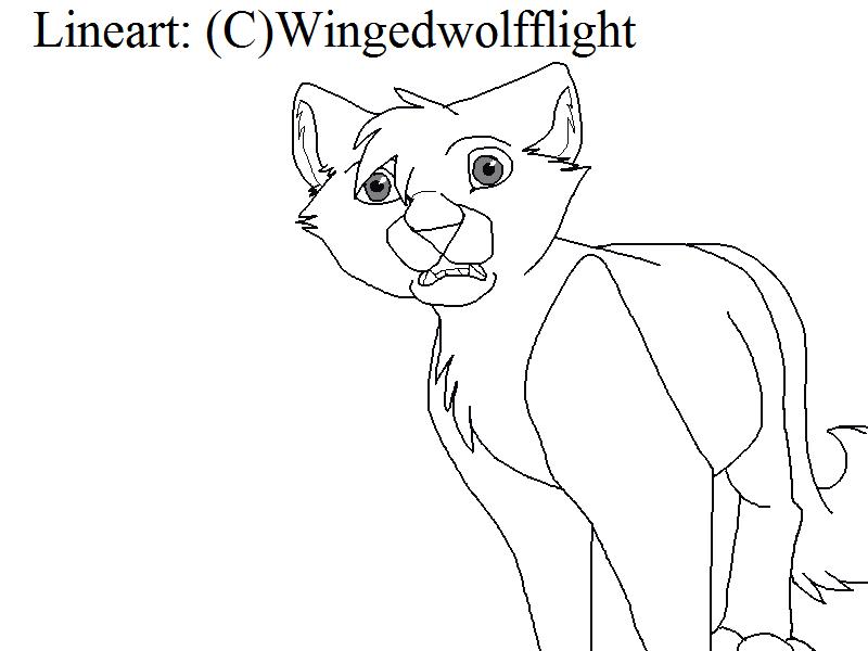 800x600 Scared Cat Lineart By Wingedwolfflight