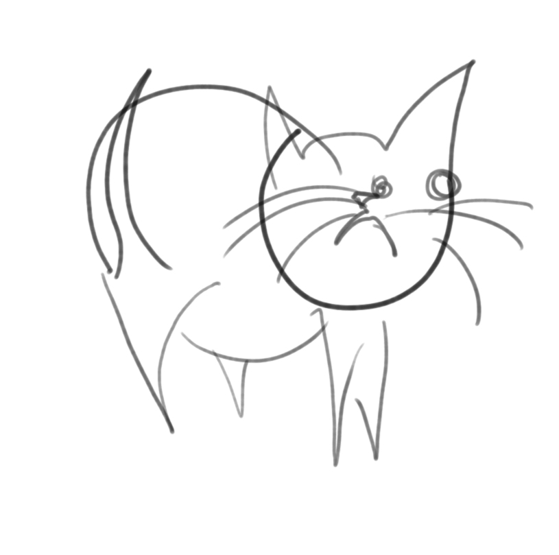 815x809 Draw A Cat With Your Eyes Closed Polycount