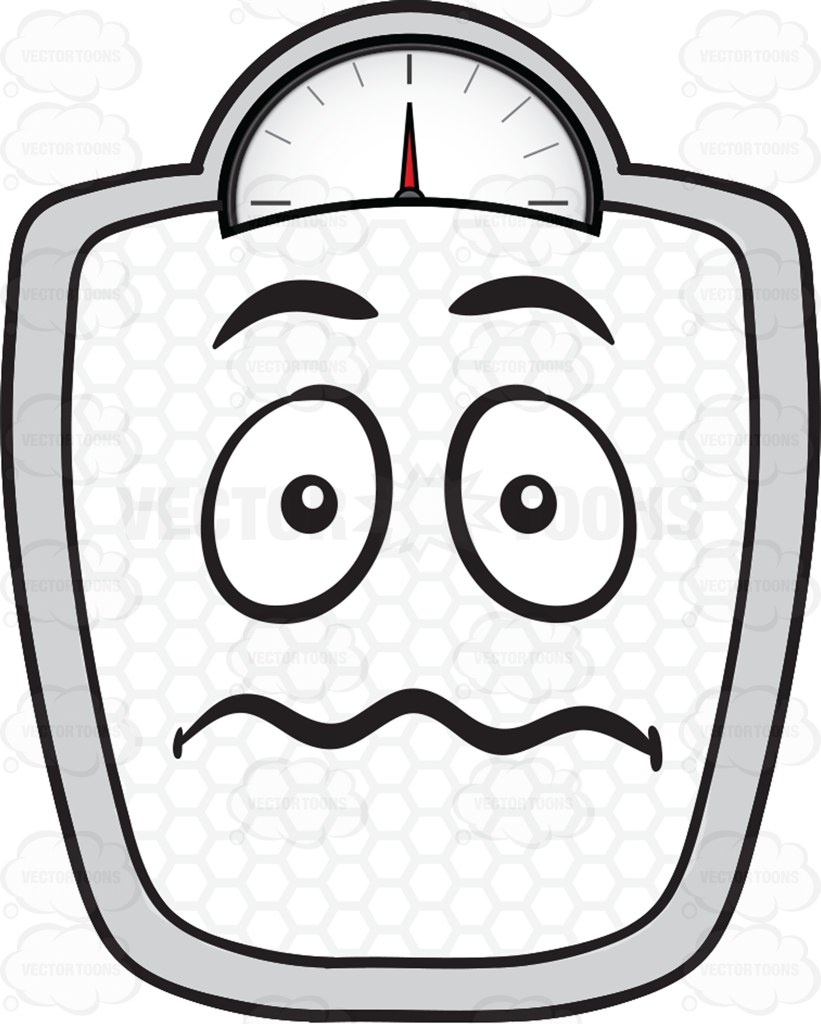 821x1024 Scared Looking Weighing Scale Emoji Cartoon Clipart