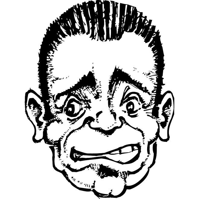 660x660 Confused Face Sketch Vector