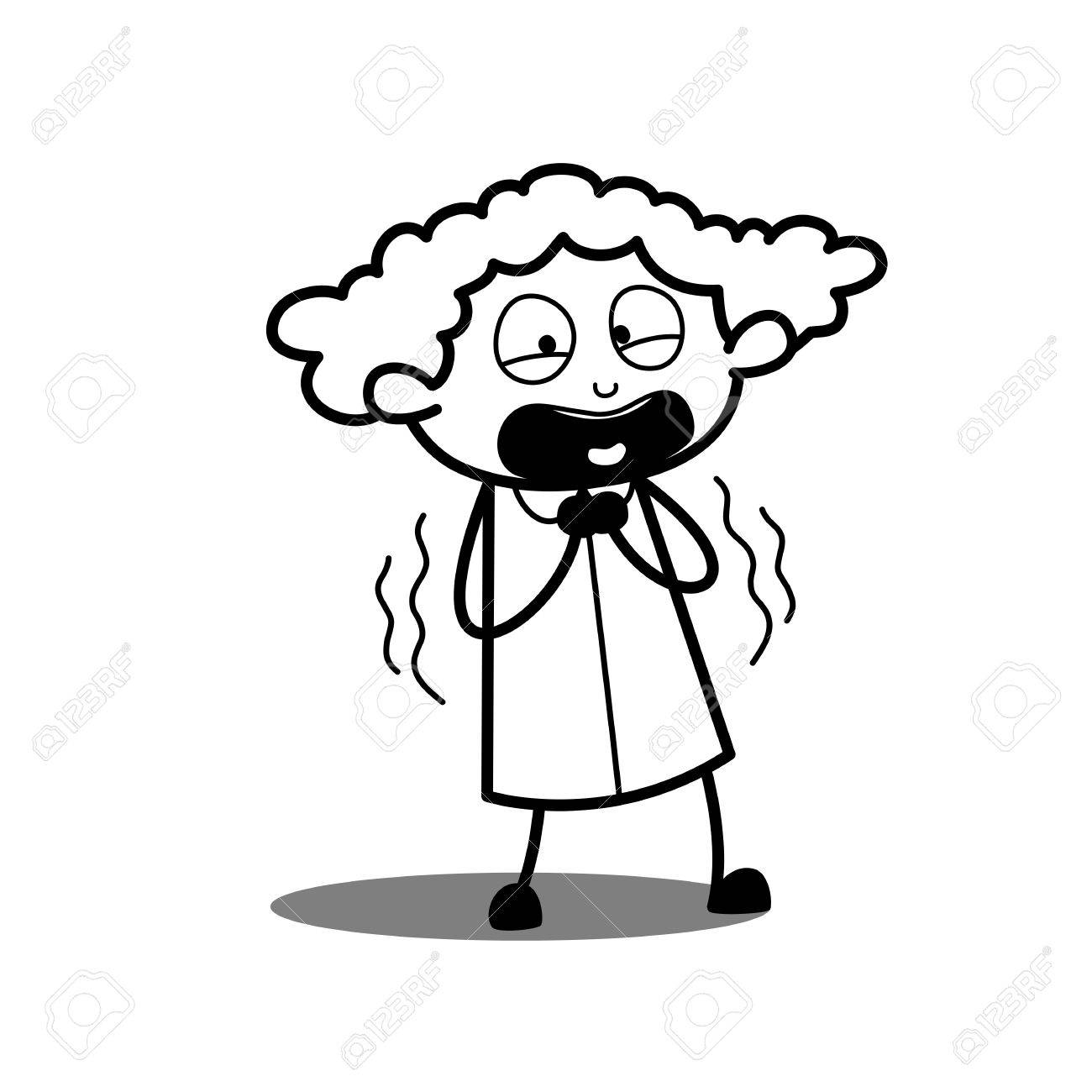 1300x1300 Scared Cartoon Girl Expression Royalty Free Cliparts, Vectors,