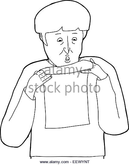 423x540 Cartoon Frightened Man Black And White Stock Photos Amp Images