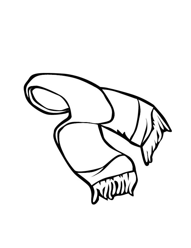 612x792 Printable Girls Winter Scarf Coloring Pages For Kids