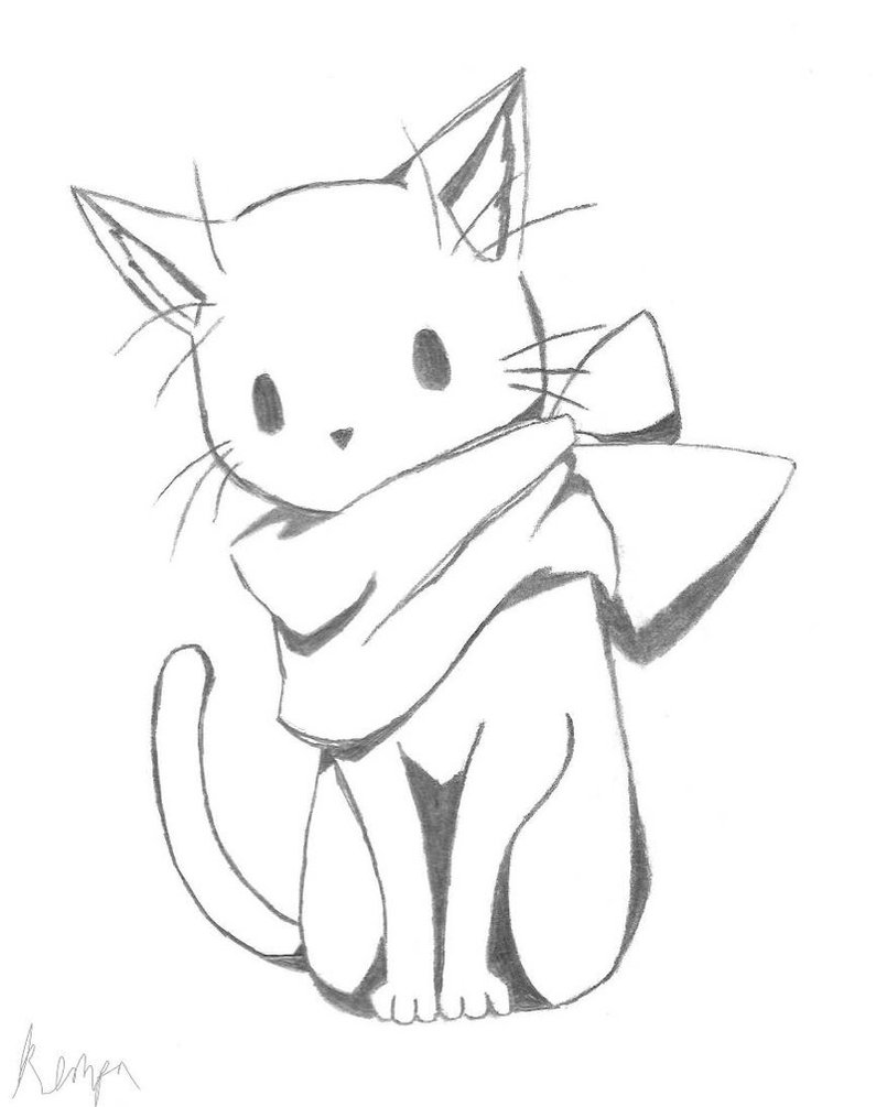 795x1005 Cat, But With A Scarf By Theshutinartist
