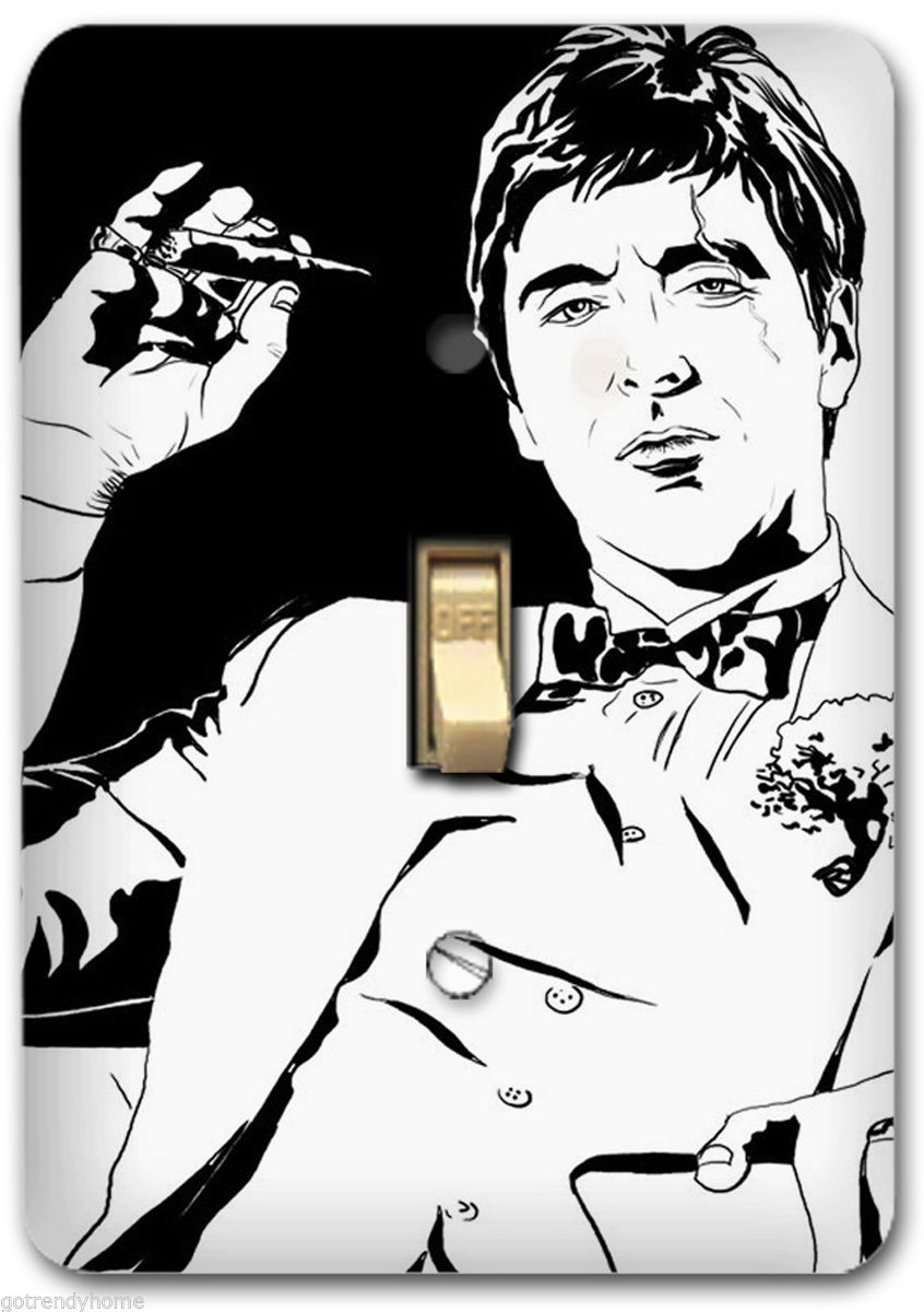 846x1200 Scarface Light Metal Switch Plate Cover Home Wall Decor Decorative