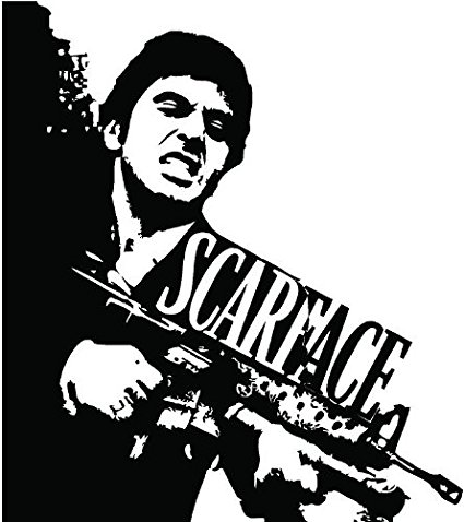 425x478 Scarface Wall Art Decal Sticker Home Decor Home Amp Kitchen