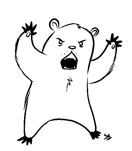 439x500 Scary Bear The Stuff In The Margin