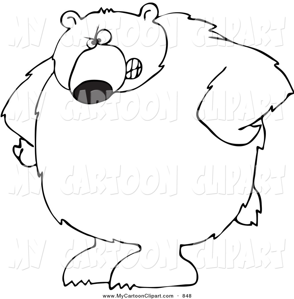 Scary Bear Drawing at GetDrawings | Free download