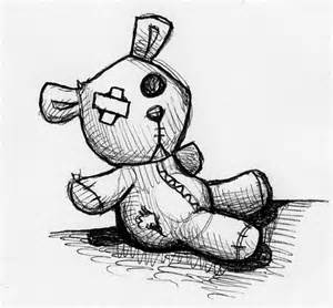 300x278 Scary Teddy Bear Drawing