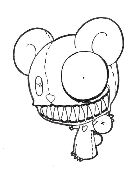448x561 Teddy Bear From Hell By Mugaru