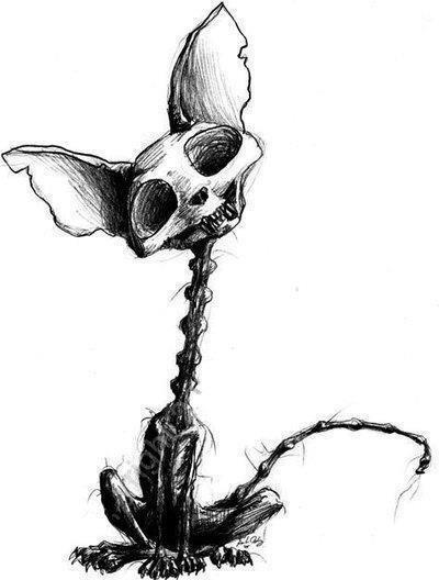 400x528 4257c80dbd6536680d950687a7a8c3b9 Tattoo Cat Skull Creepy Tattoo