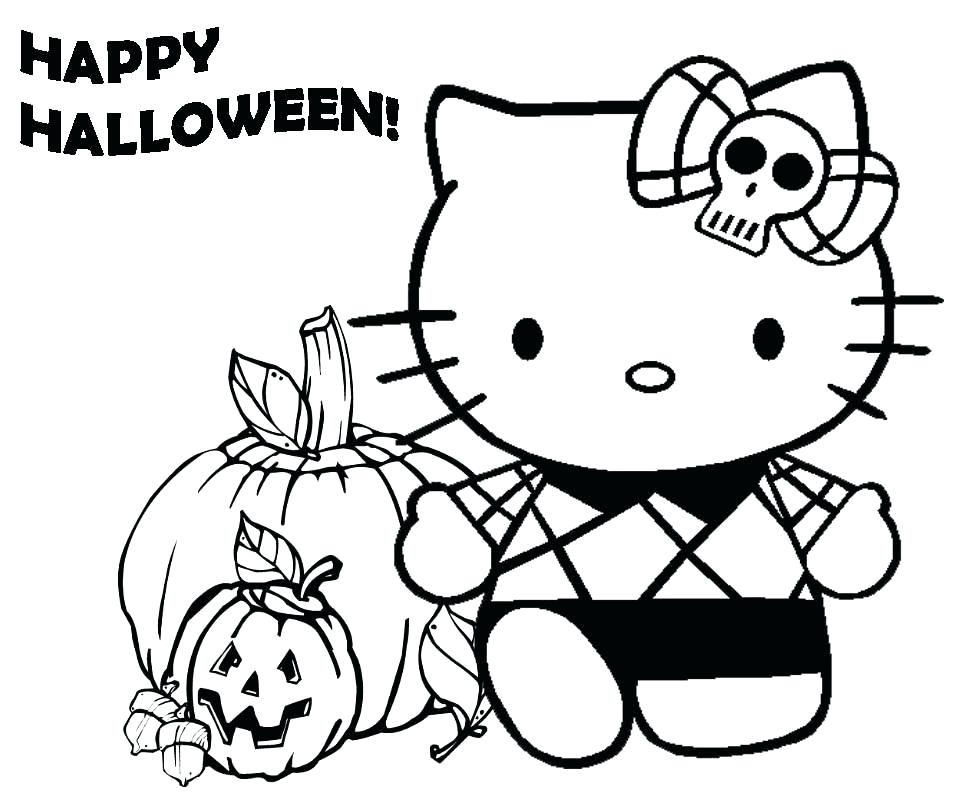 958x792 Halloween Cats Coloring Pages Cat Pictures To Color A Cartoon