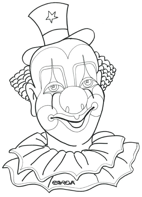 567x785 Evil Clown Coloring Pages Coloring Pages Draw A Clown Face Scary