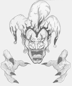 236x282 Evil Jester Face Tattoo Evil Clown Face Tattoo On Shoulder Fresh