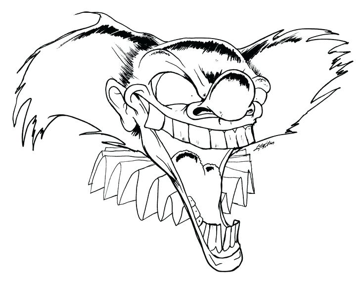 736x568 New Pennywise The Clown Coloring Pages Or Scary Clown Coloring