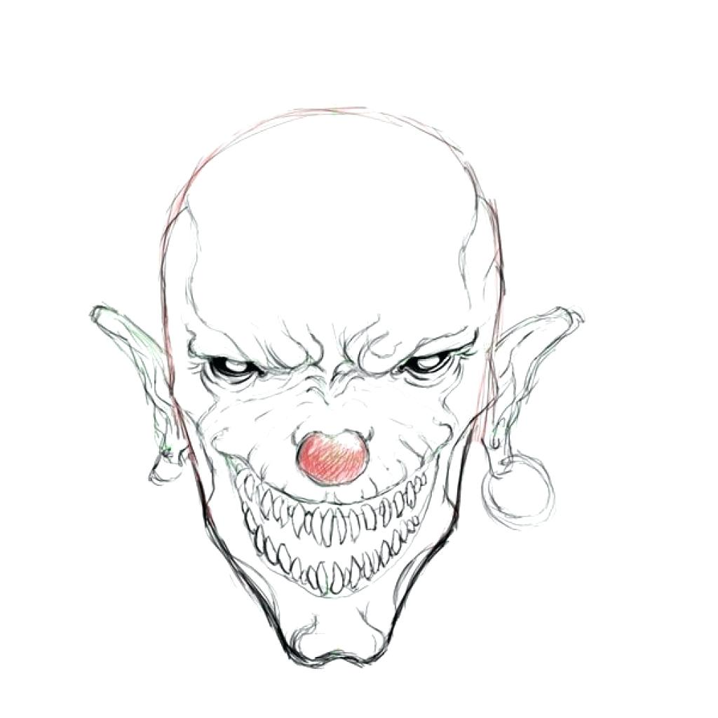 1024x1024 Coloring Scary Clown Coloring Pages