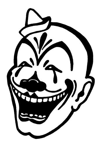 350x490 Clown Face Clipart