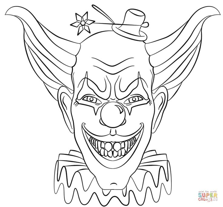 Scary Clown Face Drawing