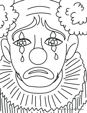 364x470 Clowns Coloring Pages Sad Clown Sad Clown Coloring Page Scary