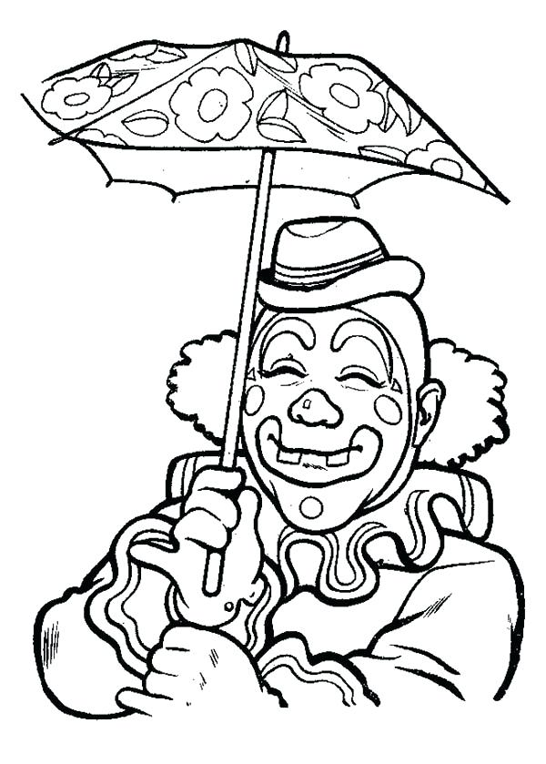 600x839 Clowns Coloring Pages Scary Clowns Drawings Scary Clown Coloring