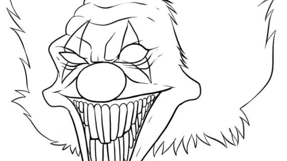570x320 Scary Clown Drawings