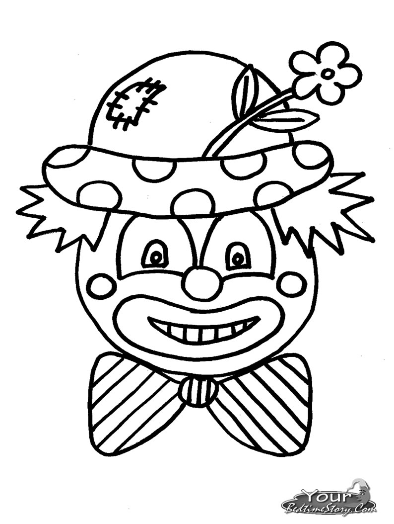 794x1054 Scary Clown Face Coloring Pages Coloring Page For Kids