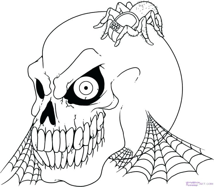 728x638 Scary Coloring Pages Scary Clown Coloring Pictures Coloring Pages