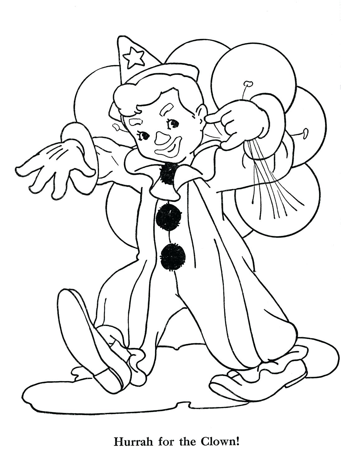 1095x1460 Three Clowns Coloring Page Color Print Clown Face Pictures Free